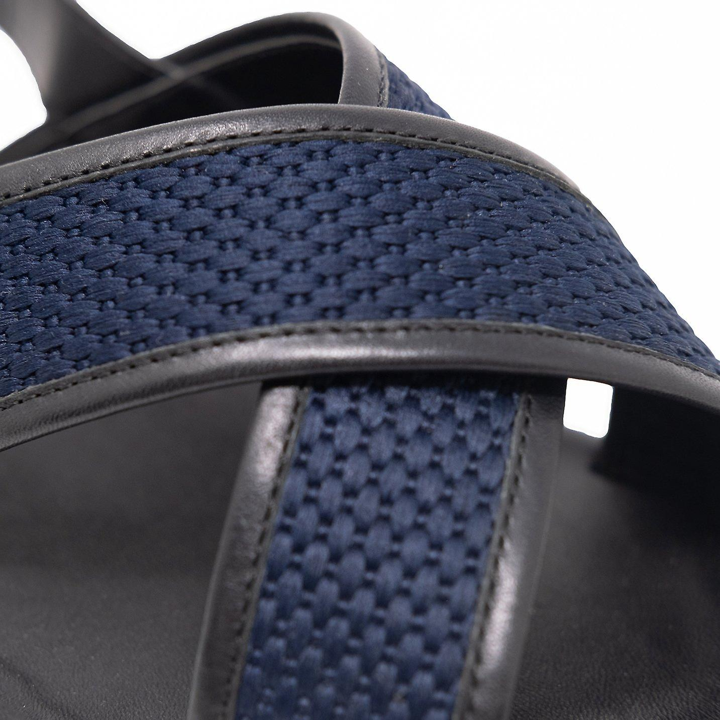 Walk london martini sandals in black and navy