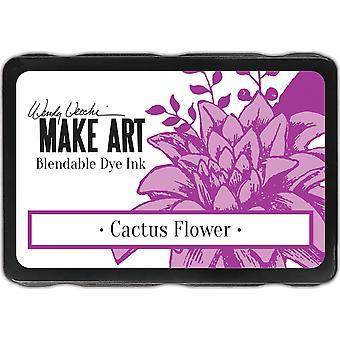 Wendy Vecchi Tee Art Väri Muste Tyynyt - Cactus Flower