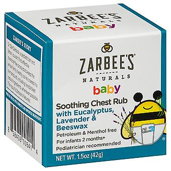 Zarbee's naturals soothing baby chest rub, 1.5 oz