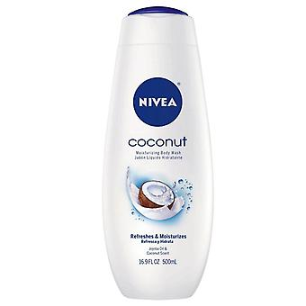 Nivea body wash moisturizing, coconut, 16.9 oz
