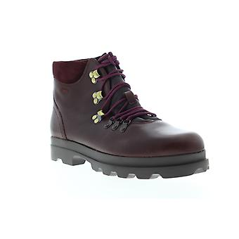 Camper 1980  Womens Red Leather Lace Up Hiker Boots