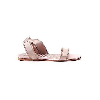 Red Valentino Tq2s0d58frbn17 Women's Nude Fabric Sandals