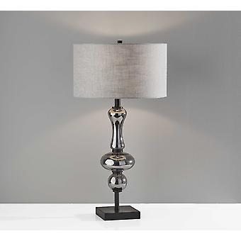 Glam Spherule Black Glass Table Lamp