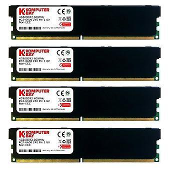コンプターベイ - RAM Dimm DDR2、16GB、240ピン、800MHz、PC2 6400 /PC2 6300