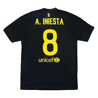 2011-12 برشلونة نايكي بعيدا قميص (A.INIESTA 8) (ممتاز)