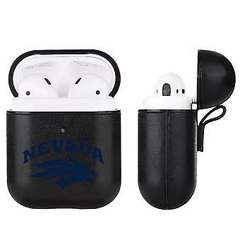 Nevada Wolfpack NCAA Fan Brander Black Leather AirPod Case