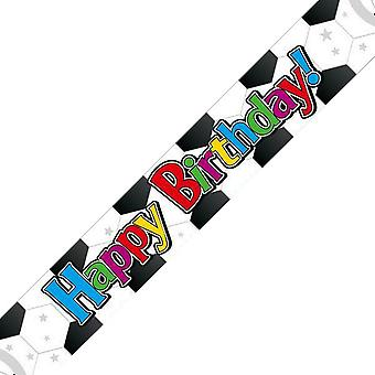 Oaktree Holographic Football Pattern Birthday Banner