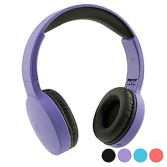 Foldable Headphones with Bluetooth KSIX Go & Play Travel/Purple
