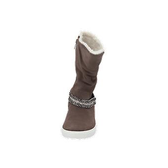 Ecco ECCO S7 TEEN Kids Girls Boots Brown Lace-Up Boots Winter