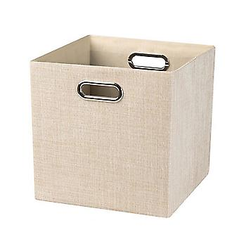 Fabric lidless storage box with handle 28x28x28cm