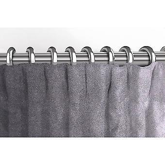 McAlister têxteis Matt prata cinza cortinas de veludo