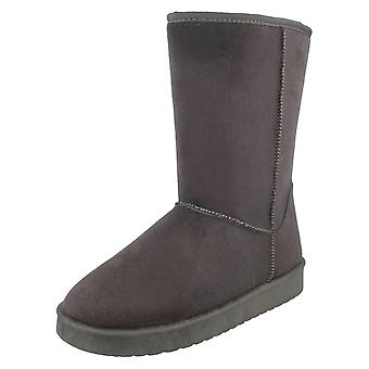 Spot On Womens/Ladies Mid Length Fleece Lined Boots