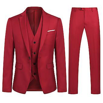 Allthemen muži ' s kostým obchod příležitostné 3-kusy oblek Blazer kalhoty vesta 9 barvy