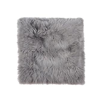 "17"" x 17"" Gray, Sheepskin - Seat/Chair Cover"