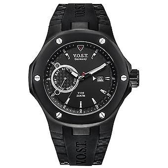 V.O.S.T. Germany V100.014 Black Multifunction Men's Watch 44mm