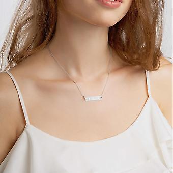 925 Silver Bar Necklace | Love