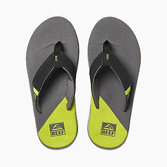Reef Mens Sandals With Bottle Opener ~ Fanning Low grey lime