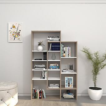 Libreria Atena Color Bianco, Cordoba in Truciolare Melaminico 93x27x140 cm