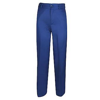 男の子のフォーマルな青いスーツのズボン