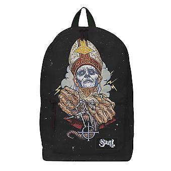 Ghost Backpack Bag Papa Nihil Band Logo nya officiella Rocksax Black
