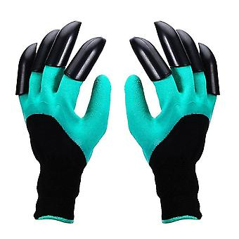 4/8 Hand Claw ABS Plastic Garden Rubber Gloves - Gardening Digging Planting   Durable Waterproof Work Glove