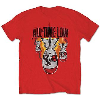 Rosso All Time Low Da Bomb Ufficiale Tee T-Shirt Mens Unisex