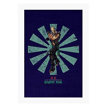 Quan Chi Retro Japanese Mortal Kombat A4 Print