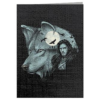 King Of Dire Wolves Game Of Thrones Greeting Card