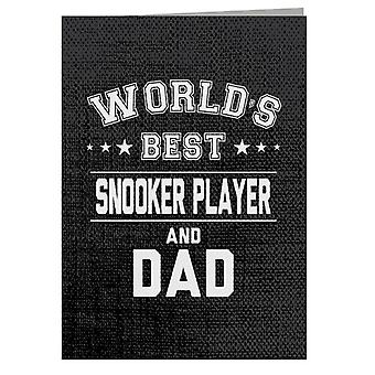 Worlds Best Snooker Player And Dad Greeting Card