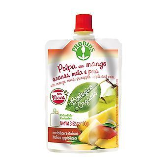 Pulpe pomme poire ananas mangue avec maca - pack doypack 100 g