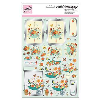 Anita-apos;s Foiled Decoupage Spring Has Spring