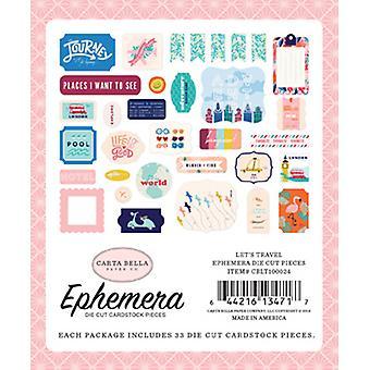 Carta Bella Let's Rejser Ephemera