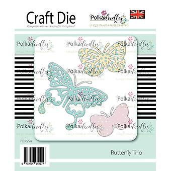 Polkadoodles Butterfly Trio Dies