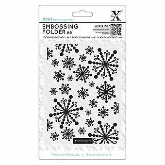 Xcut A6 Embossing Folder Beautiful Snowflakes