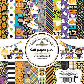 Doodlebug Design Kürbis Party 6 x 6 Zoll Papier Pad