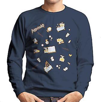 Aggretsuko Retsuko Bath Montage Men's Sweatshirt