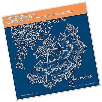 Groovi Jasmijn A5 vierkante plaat