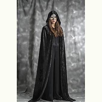 Cape médiévale dame costume hooded Cap moyen-âge cap Mesdames costume hooded manteau noir