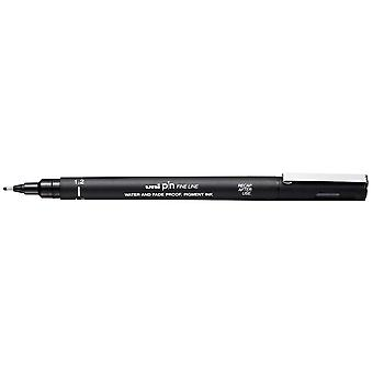 Uni Pin Fine Line Pen, Black, 1.2