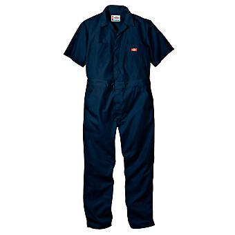 Dickies Men's Short Sleeve Coverall, Dark Navy, X-Large Regular