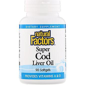 Natural Factors, Super Cod Liver Oil, 90 Softgels