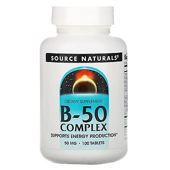 Source Naturals, Complexe B-50, 50 mg, 100 comprimés