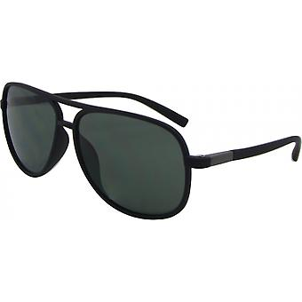 Sunglasses Unisex Pilot Kat. 3 matt black/green (8175-B)