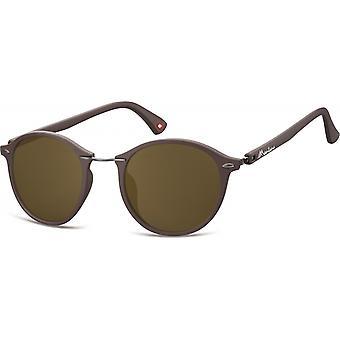Sonnenbrille Unisex    panto brown (S22)