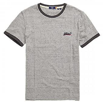 Superdry OL Ringer SS T-Shirt Grey Grit 9SS