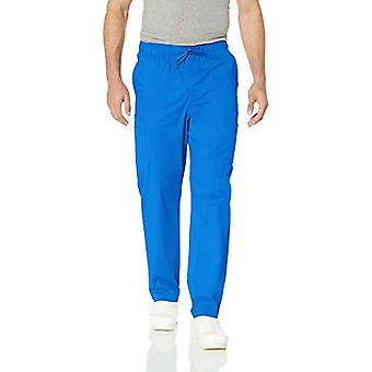 Essentials Men's Quick-Dry Stretch Scrub Pant, Royal Blue, Small