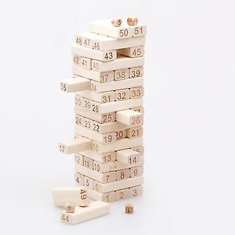 Tower Wood Building Blocks Jenga Domino Game Kids Developmental