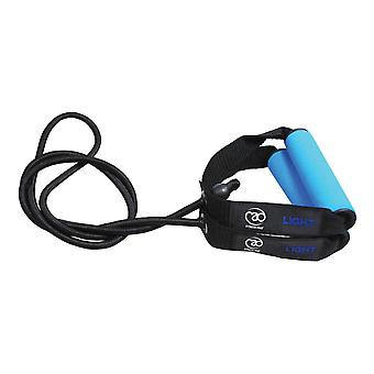 fitness mad light resistance tube with pe bag light blue fitness training band