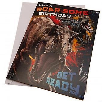 Jurassic World Verjaardag Geluidskaart