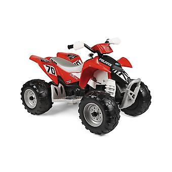 peg perego red polaris outlaw 330w 12v quad bike